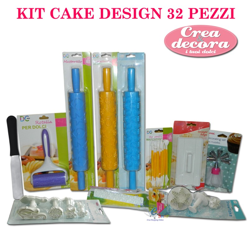 Accessori Per Cake Design Milano : KIT cake design composto da 32 pezzi, set per modellare ...