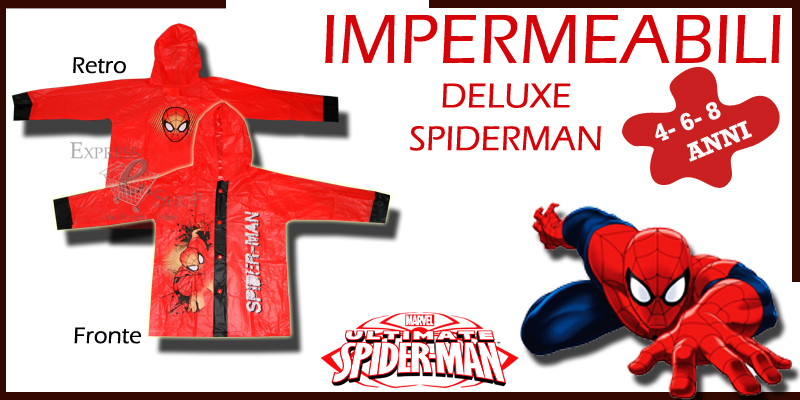 Impermeabile rosso Marvel Spiderman