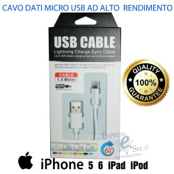 Cavo Lightning per iphone ad alto rendimento 8 pin 1,5 metri