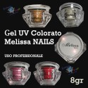 GEL UV COLORATI RICOSTRUZIONE UNGHIE NAIL ART MANICURE MELISSA NAILS 15 ML
