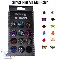 KIT STRASS DECORAZIONE UNGHIE NAIL ART GLITTER BRILLANTINI