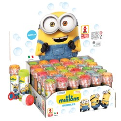 BOLLE DI SAPONE MINIONS DISNEY FLACONE 36PEZZI ANIMAZIONE COMPLEANNO FESTA PARTY