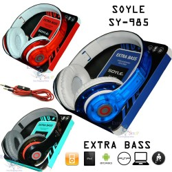 CUFFIE MICROFONO SOYLE STEREO HD SMARTPHONE PC MP3 EXTRA BASS CON AURICOLARE