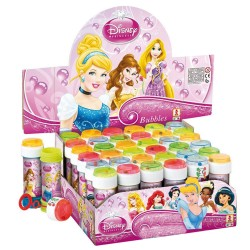 BOLLE DI SAPONE PRINCIPESSE DISNEY FLACONE 36 PEZZI ANIMAZIONE COMPLEANNO FESTA