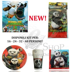 KIT PARTY KUNG FU PANDA 3 FESTA COMPLETO DI ACCESSORI