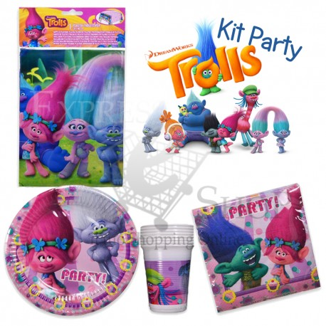 kit accessori festa di compleanno trolls party a tema On accessori per feste di compleanno