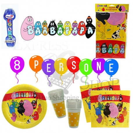 Kit accessori compleanno party Barbapapà