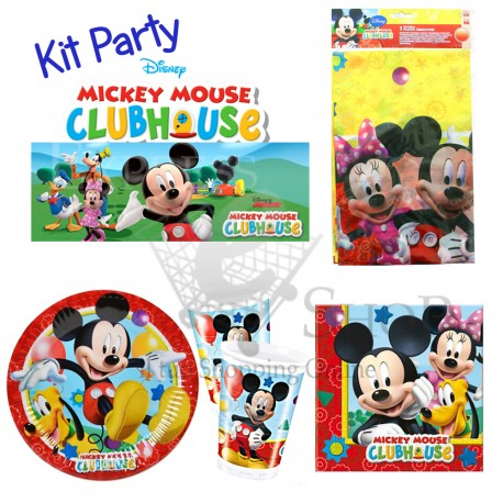 Kit accessori compleanno Topolino Clubhouse Disney