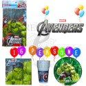 KIT PARTY AVENGERS 16 PERSONE