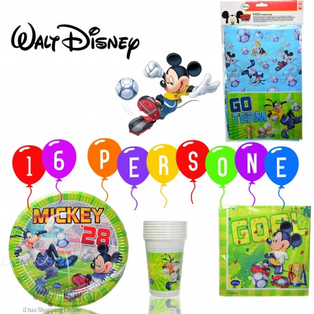 KIT PARTY TOPOLINO DISNEY 16 PERSONE