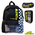 Zaino americano Evolution Bag Unfollow nero giallo, astuccio e corredo