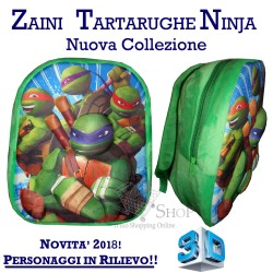 Zaino asilo Tartarughe Ninja cartella 3D