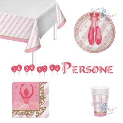 KIT PARTY BALLERINA DI DANZA CLASSICA 16 PERSONE