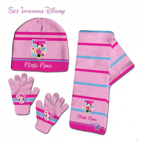 SET DISNEY MINNIE BERRETTO SCIARPA GUANTI
