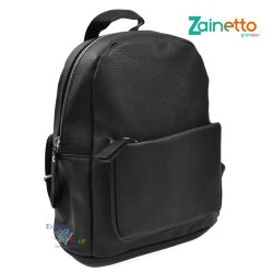 Zaino in ecopelle nero donna interno rivestito