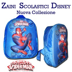 Zaino asilo Spiderman Marvel zainetto 3D per bambino