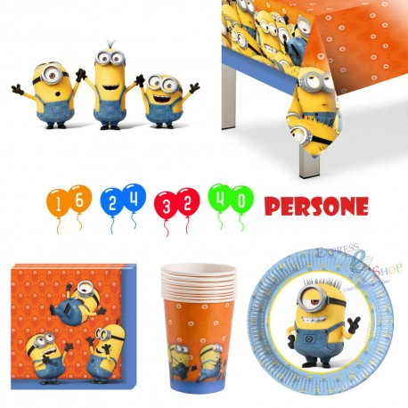 KIT PARTY MINIONS 24 PERSONE