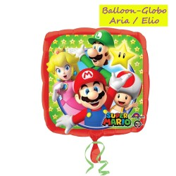 Pallone Super Mario Foil Mylar Disney in carta stagnola