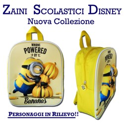 Zaino asilo Minions Disney zainetto 3D per bambini