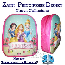 Zaino asilo Principesse Disney 3D bambina