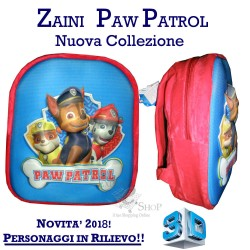 Zaino asilo Paw Patrol zainetto 3D per bambino